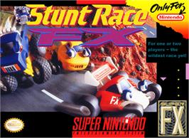 Box cover for Stunt Race FX on the Nintendo SNES.