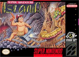 Box cover for Super Adventure Island on the Nintendo SNES.