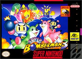 Box cover for Super Bomberman 3 on the Nintendo SNES.