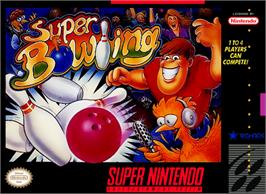 Box cover for Super Bowling on the Nintendo SNES.