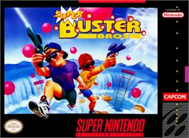 Box cover for Super Buster Bros. on the Nintendo SNES.
