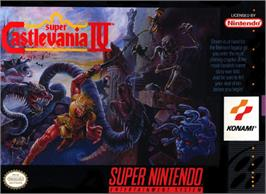 Box cover for Super Castlevania IV on the Nintendo SNES.