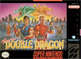 Box cover for Super Double Dragon on the Nintendo SNES.