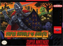 Box cover for Super Ghouls 'N Ghosts on the Nintendo SNES.