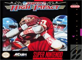 Box cover for Super High Impact on the Nintendo SNES.