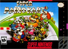 Box cover for Super Mario Kart on the Nintendo SNES.