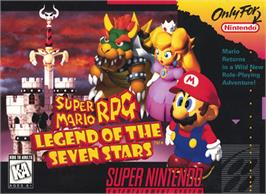Box cover for Super Mario RPG: Legend of the Seven Stars on the Nintendo SNES.