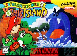 Box cover for Super Mario World 2: Yoshi's Island on the Nintendo SNES.
