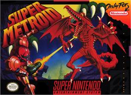 Box cover for Super Metroid on the Nintendo SNES.