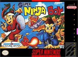 Box cover for Super Ninja Boy on the Nintendo SNES.