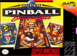 Box cover for Super Pinball: Behind the Mask on the Nintendo SNES.
