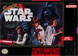 Box cover for Super Star Wars: The Empire Strikes Back on the Nintendo SNES.