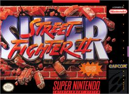 Box cover for Super Street Fighter II: The New Challengers on the Nintendo SNES.