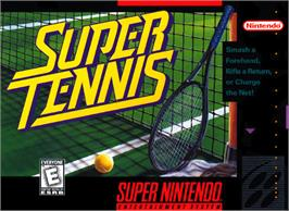 Box cover for Super Tennis on the Nintendo SNES.