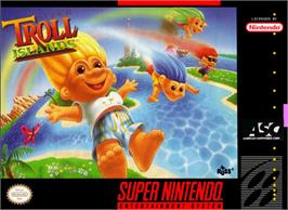 Box cover for Super Troll Islands on the Nintendo SNES.