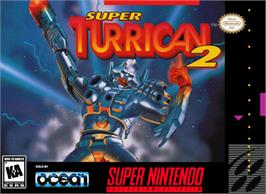Box cover for Super Turrican 2 on the Nintendo SNES.