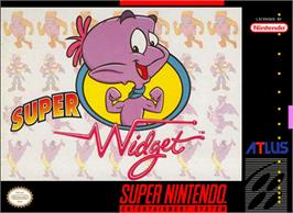 Box cover for Super Widget on the Nintendo SNES.