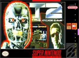 Box cover for T2: The Arcade Game on the Nintendo SNES.