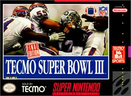 Box cover for Tecmo Super Bowl III: Final Edition on the Nintendo SNES.