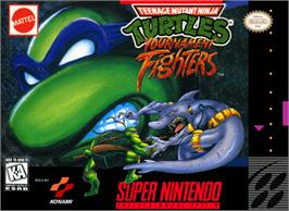 Box cover for Teenage Mutant Ninja Turtles: Tournament Fighters on the Nintendo SNES.