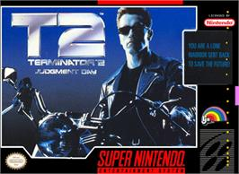 Box cover for Terminator 2: Judgment Day on the Nintendo SNES.