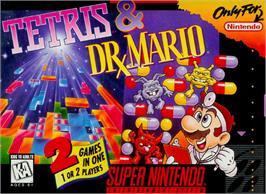 Box cover for Tetris & Dr. Mario on the Nintendo SNES.