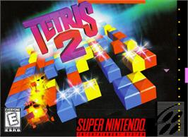 Box cover for Tetris 2 on the Nintendo SNES.