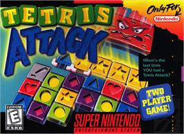 Box cover for Tetris Attack on the Nintendo SNES.