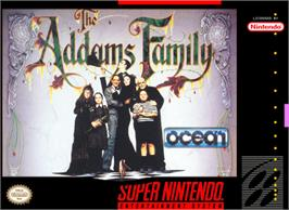Box cover for The Addams Family on the Nintendo SNES.
