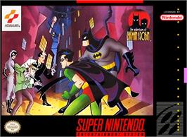 Box cover for The Adventures of Batman and Robin on the Nintendo SNES.