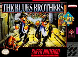 Box cover for The Blues Brothers: Jukebox Adventure on the Nintendo SNES.