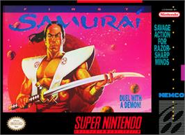 Box cover for The First Samurai on the Nintendo SNES.