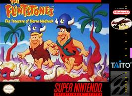 Box cover for The Flintstones: The Treasure of Sierra Madrock on the Nintendo SNES.