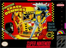 Box cover for The Incredible Crash Dummies on the Nintendo SNES.