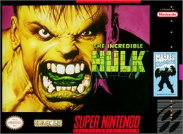 Box cover for The Incredible Hulk on the Nintendo SNES.