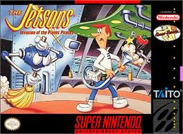 Box cover for The Jetsons: Invasion of the Planet Pirates on the Nintendo SNES.
