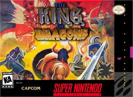 Box cover for The King of Dragons on the Nintendo SNES.