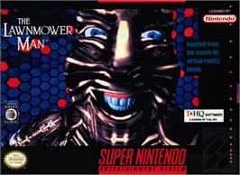 Box cover for The Lawnmower Man on the Nintendo SNES.