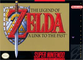 Box cover for The Legend of Zelda: A Link to the Past on the Nintendo SNES.