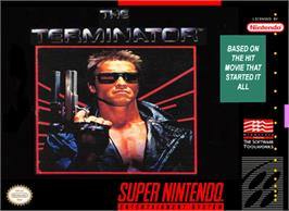 Box cover for The Terminator on the Nintendo SNES.