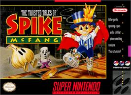 Box cover for The Twisted Tales of Spike McFang on the Nintendo SNES.