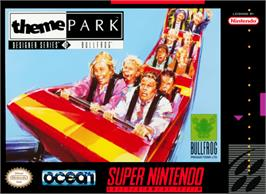 Box cover for Theme Park on the Nintendo SNES.