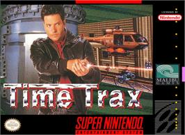 Box cover for Time Trax on the Nintendo SNES.