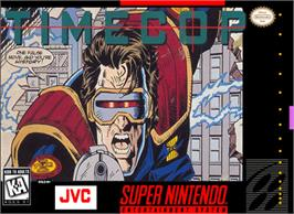 Box cover for Timecop on the Nintendo SNES.