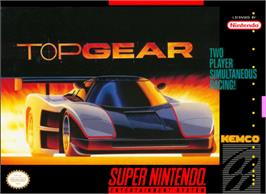 Box cover for Top Gear on the Nintendo SNES.