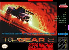 Box cover for Top Gear 2 on the Nintendo SNES.