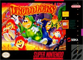 Box cover for Troddlers on the Nintendo SNES.