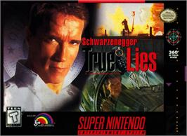 Box cover for True Lies on the Nintendo SNES.