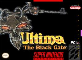 Box cover for Ultima VII: The Black Gate on the Nintendo SNES.