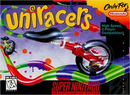 Box cover for Uniracers on the Nintendo SNES.